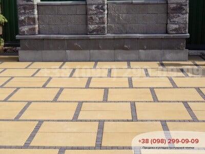 Тротуарная плитка Неолит Желтаяфото 1
