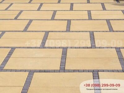 Тротуарная плитка Неолит Желтаяфото 6