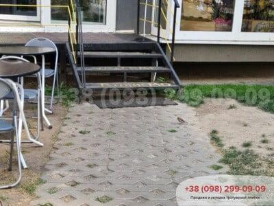Тротуарная плитка Парковочная Решетка Сераяфото 7
