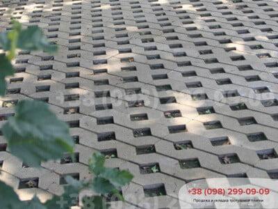 Тротуарная плитка Парковочная Решетка Сераяфото 10