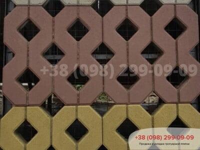 Тротуарная плитка Парковочная Решетка Сераяфото 8