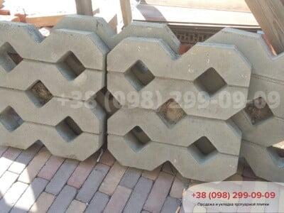 Тротуарная плитка Парковочная Решетка Сераяфото 2