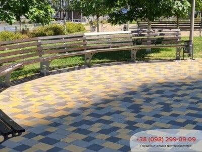 Тротуарная плитка Плац Желтаяфото 16