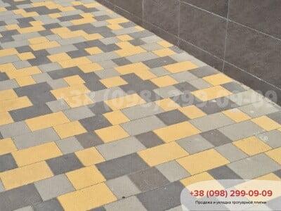 Тротуарная плитка Плац Желтаяфото 4