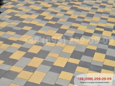Тротуарная плитка Плац Желтаяфото 5