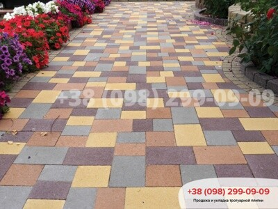 Тротуарная плитка Плац Желтаяфото 1