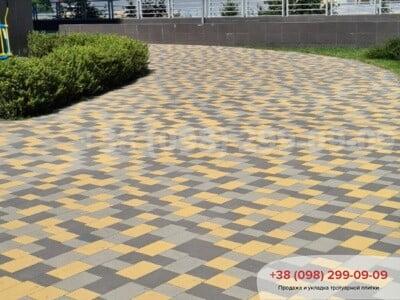 Тротуарная плитка Плац Желтаяфото 8
