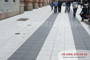 Белый Тротуарная плитка Плита 400х400 белая