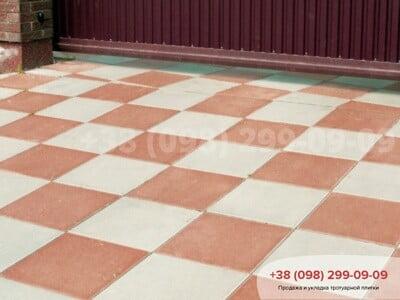 Тротуарная плитка Плита 400х400 белаяфото 4