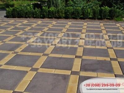 Тротуарная плитка Плита 400х400 коричневаяфото 11
