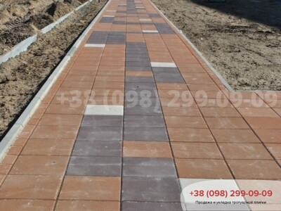 Тротуарная плитка Плита 400х400 коричневаяфото 2