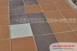 Коричневый Тротуарная плитка Плита 400х400 коричневая