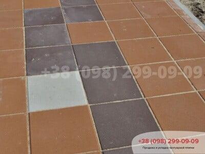Тротуарная плитка Плита 400х400 коричневаяфото 1