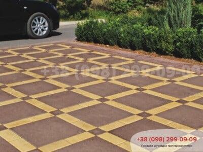 Тротуарная плитка Плита 400х400 коричневаяфото 12
