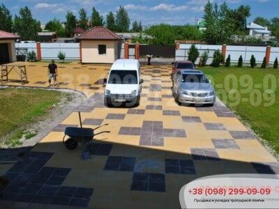 Тротуарная плитка Плита 400х400 коричневаяфото 4
