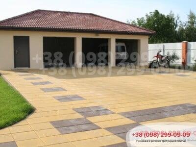 Тротуарная плитка Плита 400х400 коричневаяфото 5