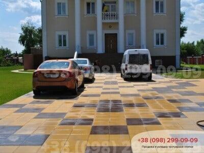 Тротуарная плитка Плита 400х400 коричневаяфото 7
