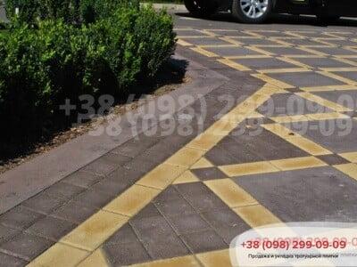 Тротуарная плитка Плита 400х400 коричневаяфото 8