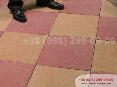 Тротуарная плитка Плита 400х400 Краснаяфото 1