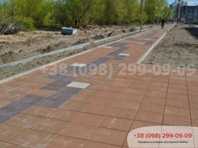 Тротуарная плитка Плита 400х400 Персиковаяфото 3