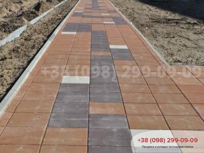 Тротуарная плитка Плита 400х400 Персиковаяфото 1