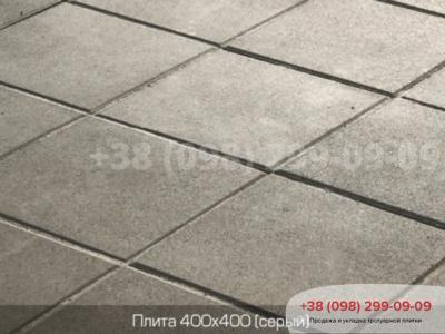 Тротуарная плитка Плита 400х400 сераяфото 1