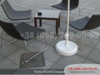 Тротуарная плитка Плита 400х400 сераяфото 5