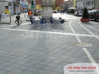 Тротуарная плитка Плита 400х400 сераяфото 6