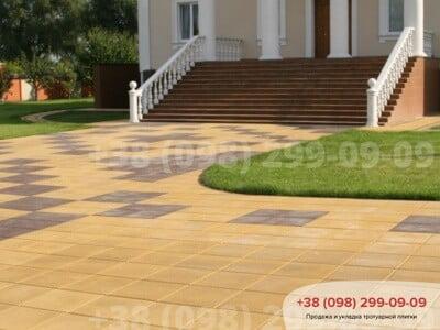 Тротуарная плитка Плита 400х400 Желтаяфото 1