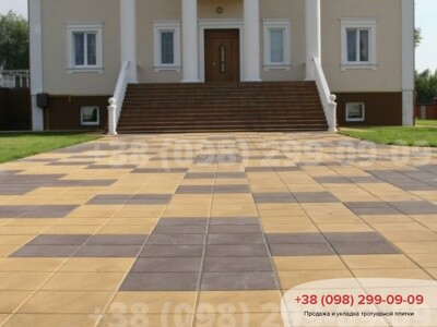 Тротуарная плитка Плита 400х400 Желтаяфото 8