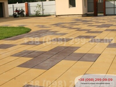 Тротуарная плитка Плита 400х400 Желтаяфото 4