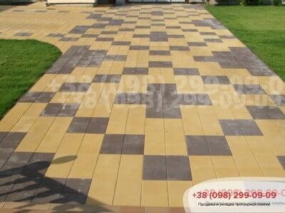 Тротуарная плитка Плита 400х400 Желтаяфото 6