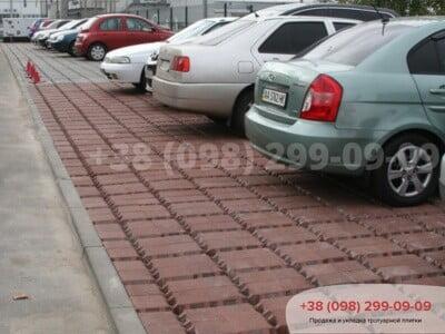Тротуарная плитка Решетка Эко Бордоваяфото 3