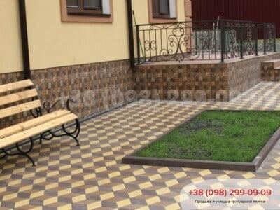 Тротуарная плитка Ромб Персиковаяфото 4