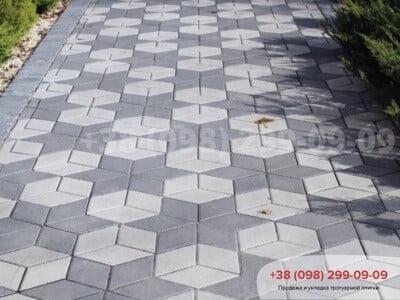 Тротуарная плитка Ромб Чернаяфото 3