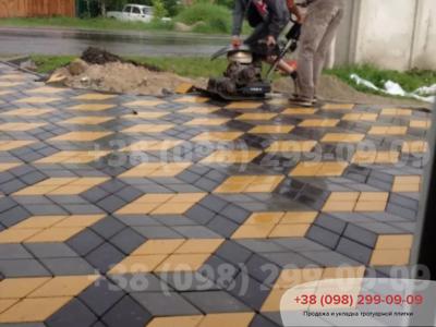 Тротуарная плитка Ромб Чернаяфото 2