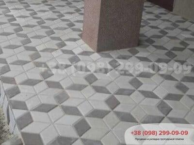Тротуарная плитка Ромб Чернаяфото 4