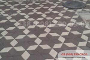 Черный Тротуарная плитка Ромб Черная