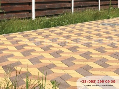 Тротуарная плитка Ромб Коричневаяфото 12