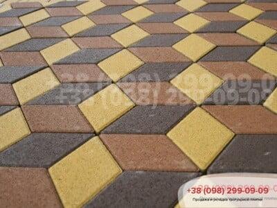 Тротуарная плитка Ромб Персиковаяфото 1