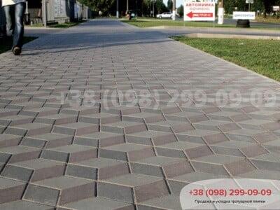 Тротуарная плитка Ромб Серыйфото 2