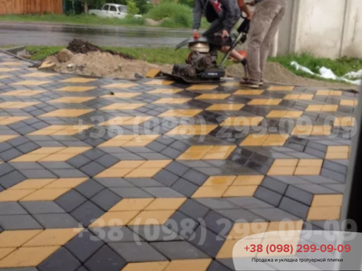Тротуарная плитка Ромб Серыйфото 3