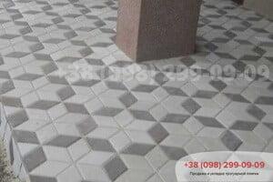 Серый Тротуарная плитка Ромб Серая
