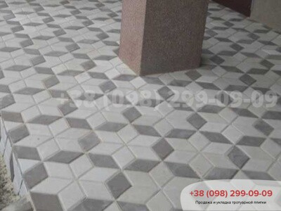 Тротуарная плитка Ромб Серыйфото 1