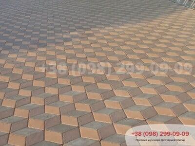Тротуарная плитка Ромб Серыйфото 6