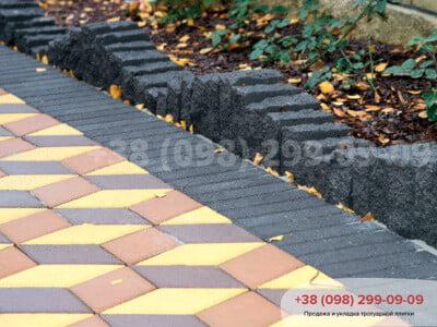 Тротуарная плитка Ромб Желтаяфото 15