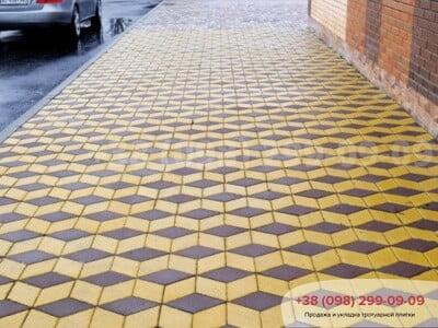 Тротуарная плитка Ромб Желтаяфото 17