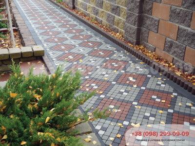Тротуарная плитка Шашка Белаяфото 4