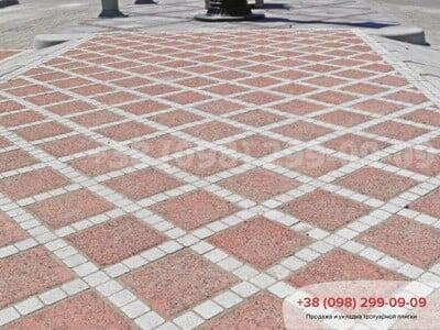 Тротуарная плитка Шашка Белаяфото 2