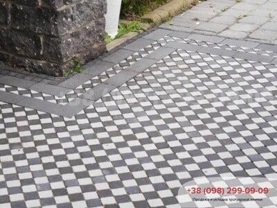 Тротуарная плитка Шашка Белаяфото 8